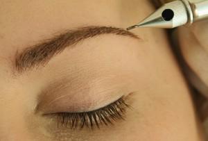 Augenbraun-Closeup